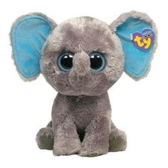 "10 "" Ty Beanie Boo's Baby Gray Elephant ""Peanut"" Stuffed Animal Toy"