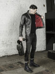 leather monkeys icon cafe racer jacket with red lining www.lmuk.co