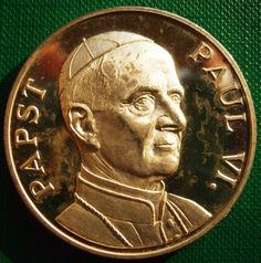 Germany Medal 28 gr 40 mm Silver 1000 er Past Paul 6 1897 1978 very Nice