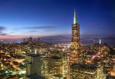 Beautiful San Francisco by night. from #treyratcliff at http://www.StuckInCustoms.com - all images Creative Commons Noncommercial