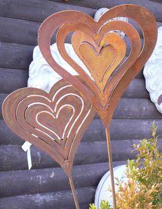 HERZ gedreht Windspiel 3D 20x22cm Gartenstecker Edelrost Rost Rostherz | Garten & Terrasse, Dekoration, Gartenfiguren & -skulpturen | eBay!