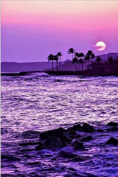 Image Reasons Why Hawaii Is One of The Most Spectacular and Peaceful Places on Earth Beautiful sunset.Going Places Going Places or Goin' Places may refer to: Purple Love, All Things Purple, Shades Of Purple, Purple Sunset, Purple Beach, Pink Purple, Purple Stuff, Purple Nails, Beautiful Sunset