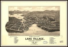 Map Middlebury Vermont Travel 1800/'s Bird/'s Eye View Poster Repro FREE S//H