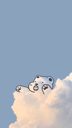 Wallpaper Doodle, Cute Pastel Wallpaper, Soft Wallpaper, Bear Wallpaper, Scenery Wallpaper, Aesthetic Pastel Wallpaper, Kawaii Wallpaper, Cute Wallpaper Backgrounds, Wallpaper Iphone Cute