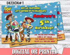 Amazon.com: Toy Story Personalized Birthday Invitations More Designs Inside: Handmade Personalized Birthday Invitations, Birthday Party Invitations, Buy Toys, Designer Toys, Invitation Set, Make Design, Machine Learning, 5th Birthday, Toy Story