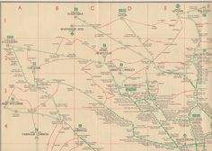London Transport Green Line coach services map, 1936/7 - north west London section | von mikeyashworth