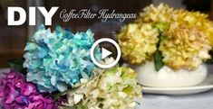 Do You Love Coffee? Try These Brewing Tips - Ultimate Coffee Cup Coffee Filter Garland, Coffee Filter Roses, Coffee Filter Paper, Coffee Filter Crafts, Coffee Crafts, Coffee Filters, Coffee Filter Projects, Paper Sunflowers, Paper Flowers Diy