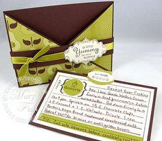 Cute Stampin Up recipe card holder
