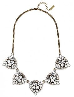This crystal necklace provides the perfect amount of sparkle. | $38.00