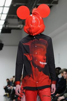 A model walks the runway at the Katie Eary show during The London Collections: Men Autumn/Winter 2014 on January 8, 2014 in London, England.