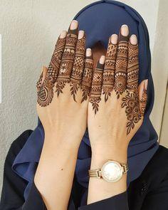 Henna Design By Fatima Finger Henna Designs, Simple Arabic Mehndi Designs, Mehndi Designs For Beginners, Mehndi Designs For Girls, Modern Mehndi Designs, Mehndi Design Pictures, Mehndi Designs For Fingers, Dulhan Mehndi Designs, Latest Mehndi Designs