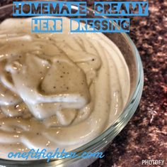 Homemade Creamy Herb Dressing (Ranch substitute)