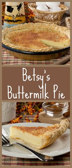 This creamy and old-fashioned buttermilk pie is timeless. All we need is a cozy corner to eat it in!