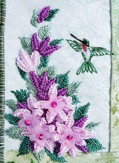 RosalieWakefield-Millefiori: Brazilian Dimensional Embroidery on Two Little Art Quilts