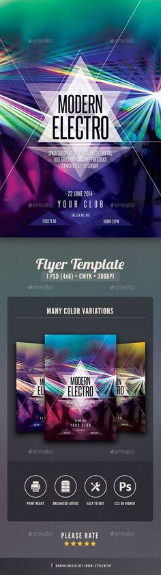 Guest Dj  Electro Flyer Template  Dj Electro Flyer Template And