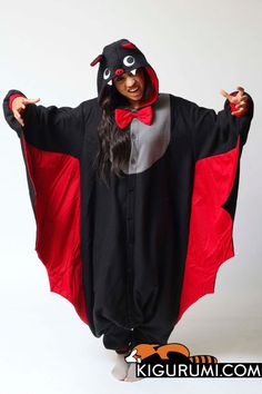 32acb8741 Bat Kigurumi Onesie Sleeping All Day, Adult Costumes, Animal Costumes,  Halloween Costumes,