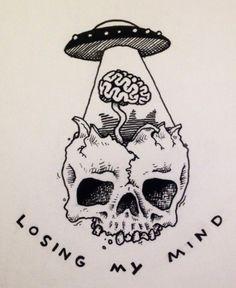 39 Best Ideas For Trippy Art Alien Psychedelic Kunst Tattoos, Tattoo Drawings, Cool Drawings, Body Art Tattoos, Finger Tattoos, Alien Drawings, Trippy Drawings, Medical Drawings, Skull Drawings
