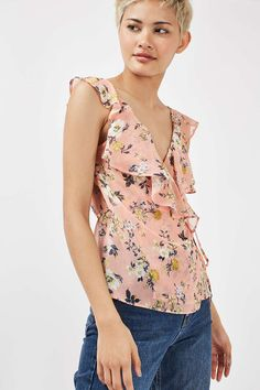 Floral Ruffle Cami - Tops - Clothing - Topshop Europe