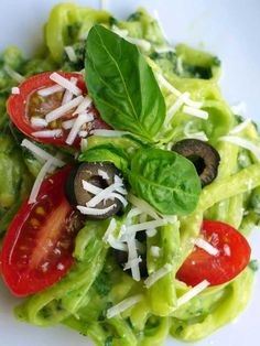 Follow on Print Yum Zoodles with Fresh Avocado Pesto Yield: 2 Ingredients1 avocado ¼ cup fresh basil leaves, packed 1 garlic clove, minced dash sea salt freshly ground black pepper 4 tablespoons extra-virgin olive oil, divided water, to thin 1 large zucchini (or 2 small zucchini), spiralized ½ cup cherry tomatoes or sun-dried tomatoes, sliced ... [Read more...]