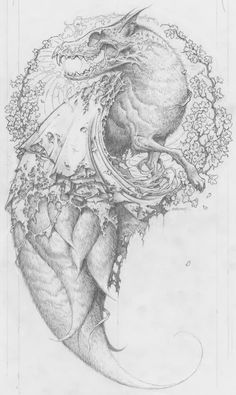 An original drawing by Horkey.  Horkey is my Grandemother's maiden name.  This is bad ass.