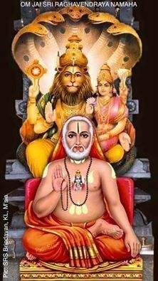 Sri Raghavendra Swami known as the incarnation of great devotee of Lord Vishnu Sri Prahlad Dev. Shri Hanuman, Jai Shree Krishna, Krishna Radha, Lord Krishna, Durga, Saints Of India, Lord Vishnu Wallpapers, Lord Murugan, Radha Krishna Wallpaper