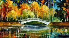 White Bridge by Leonid Afremov by Leonidafremov