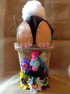 """""""Easter Bunny"""" Easter Bonnet, already for my daughters Parade!!"""