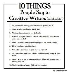 Degree in creative writing