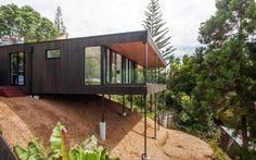 Design Hub - блог о дизайне интерьера и архитектуре: Современный дом на склоне в Новой Зеландии