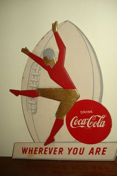 1950s Coca Cola Football