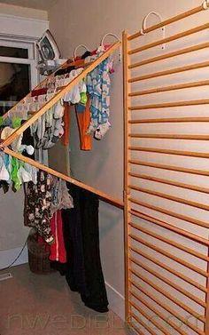 Transformer un lit à barres en sèche linge... ...