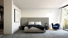 These bedrooms designed by C.Kairouz Architects exude a sleek, modern personality using carefully selected materials for their opulence, texture & quality. Click link to see more of these inspiring residences>>#bedroomideas #style #decor #design #luxuryliving #apartment #architecture #interiordesign #modernhousedesign #simple #neutral #furniture