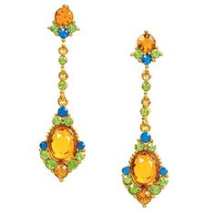 Jeweled Chandelier Earrings - Earrings - Jewelry - The Met Store. Another pair of earrings that can stand alone or with the matching necklace and make a statement!