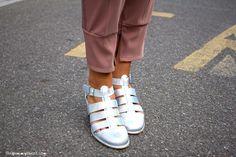 elisa bersani wearing Gotha shirt and pants, Miista shoes, Zanellato bag and Cooee accessories