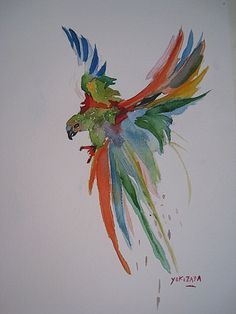 Now this is how I want to start using my watercolours: