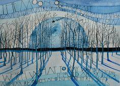 2014 originals – part 2 Art Club Projects, Sam Cannon, Goddess Art, Letter Art, Moon Art, Online Gallery, Tree Art, Watercolor And Ink, Medium Art