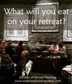 Day 11 – What will you eat on your retreat? Food ideas and tips for retreats of all kinds from Women's Ministry Toolbox. Retreat Gifts, Women's Retreat, Retreat Ideas, Youth Group Activities, Youth Groups, Group Games, Womens Ministry Events, Christian Retreat, Family Reunion Games