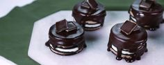 If you freeze this amazing chocolate covered dessert, you can eat it like an ice cream sandwich!