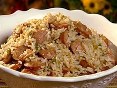 Get Dirty Rice with Smoked Sausage Recipe from Food Network