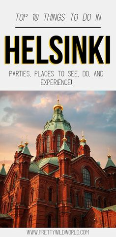 Interested in visiting the capital city of Finland? Here's a list of local insider tips of the things to do in Helsinki you must not miss! Europe Destinations, Europe Travel Tips, European Travel, Travel Guides, Holiday Destinations, Italy Travel, Backpacking Europe, Denmark, Travel