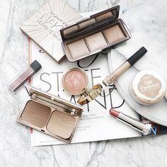 Makeup menu flatlay