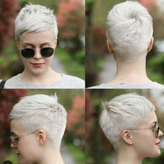 Pixie hairstyles inspire the short hairstyles 2020 for your next hairdresser visit. Because Pixie hairstyles make you want to have short hair! The most beautiful looks and care tips at a glance.The Short Pixie Hairstyles For 2020 Are More Versatile T Very Short Haircuts, Girl Haircuts, Trendy Haircuts, Popular Hairstyles, Haircut Short, Short Feminine Haircuts, Pixie Haircut Fine Hair, Poxie Haircut, Undercut Pixie Haircut