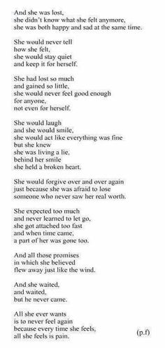 I have finally learned that no matter what i do, I will never be good enough for you.