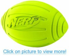 Nerf Dog Squeak Ridged Rubber Football Dog Toy, Medium/Large, Green 7 inches ~~~ To check this awesome product by going to the link at the image. (This is an affiliate link and I receive a commission for the sales) Dog Toys Amazon, Dog Football, Dog Shower, Interactive Toys, Dog Diapers, Dog Memorial, Dog Hoodie, Dog Agility, Outdoor Dog