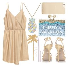need a vacay by foundlostme on Polyvore featuring polyvore fashion style H&M Kate Spade Paul & Joe Stila clothing vacation pineapple Dressunder50