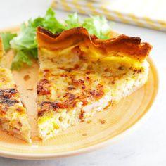 entulinea.es: Receta de entulínea - Quiche ligera de bacon de pavo