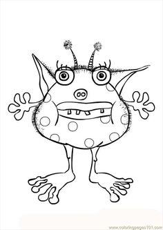 32 Best Monster Printables Images On Pinterest Appliques Monster