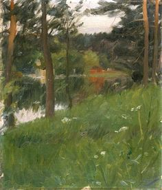 'From Lidingön' (ca.1887) by Anders Zorn