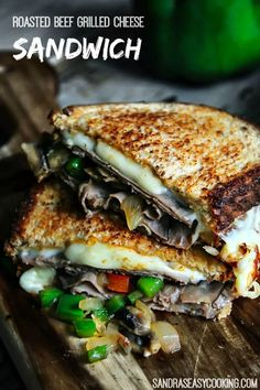 Roasted Beef Grilled Cheese Sandwich - Sandra& Easy Cooking - Cheese Please - Roast Beef Grilled Cheese, Cooking Roast Beef, Roast Beef Sandwiches, Roast Beef Recipes, Grilled Recipes, Roast Beef Lunch Meat Recipe, Panini Sandwiches, Grill Sandwich, Sandwich Recipes