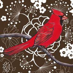 """Cardinal"" by Kristin Freeman  www.kristinfreemanillustration.com"